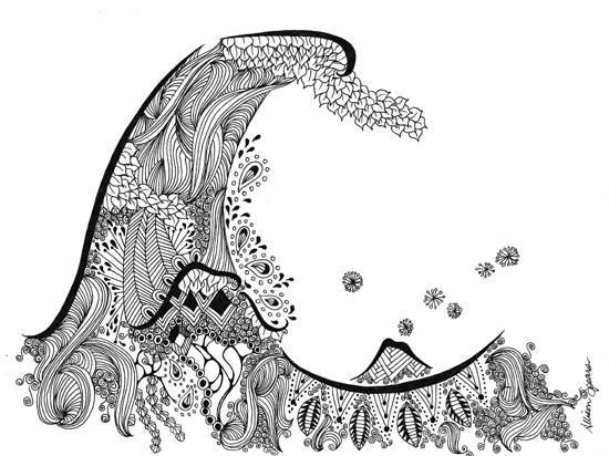 art prints - The Zen Wave by Allison Spears