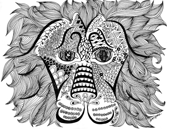 art prints - Ferocious Zen by Allison Spears