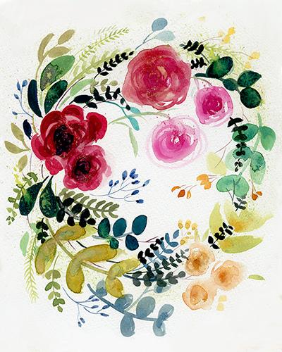 art prints - Spring Flowers by Adrianna Vanderstelt