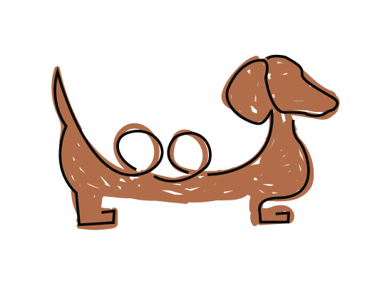 art prints - Doxie loop by Carrie Lee