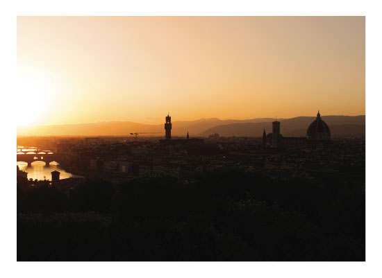 art prints - Florence, Italy at Dusk by Carrie Lee