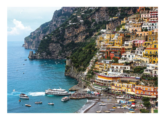 art prints - Coast of Italy by Carrie Lee