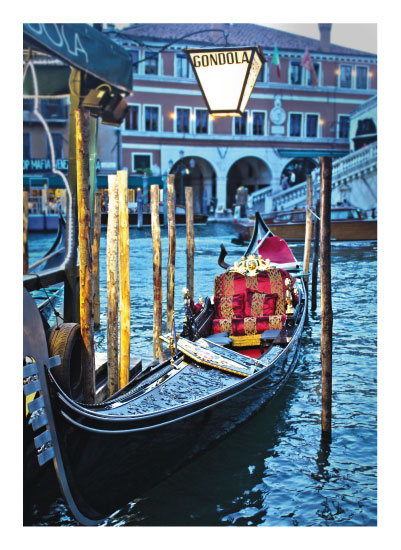 art prints - Gondola Venice, Italy by Carrie Lee