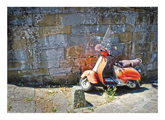 art prints - Vespa in Italy by Carrie Lee