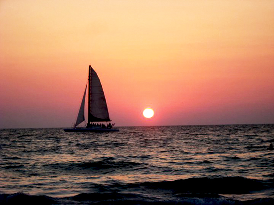 art prints - Sailing In Dusk by Allison Spears
