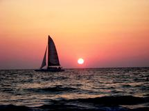 Sailing In Dusk by Allison Spears
