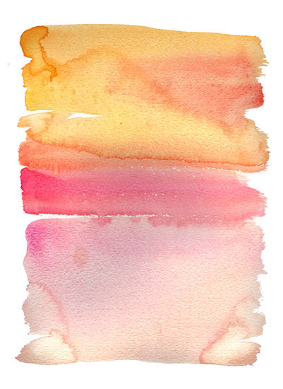 art prints - Forest Feast Watercolor Sunset by erin gleeson