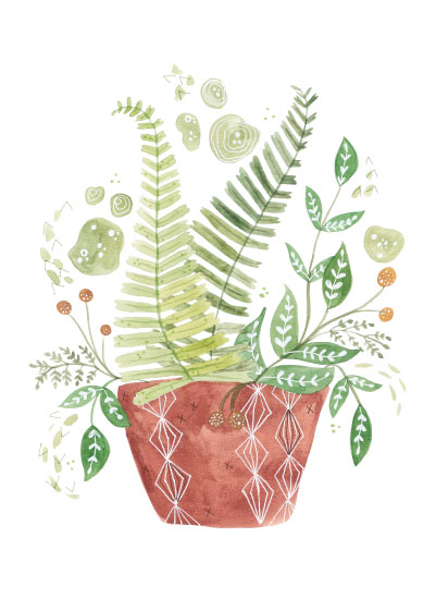 art prints - Jungle fern by Sarah Ehlinger