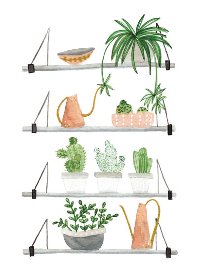 art prints - plant shelfie by Sarah Ehlinger