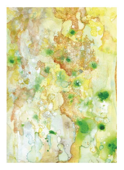 art prints - gold, rust, teal, algae by Cynthia Bogart