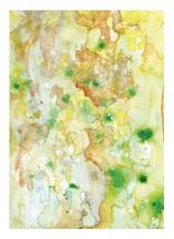 gold, rust, teal, algae by Cynthia Bogart