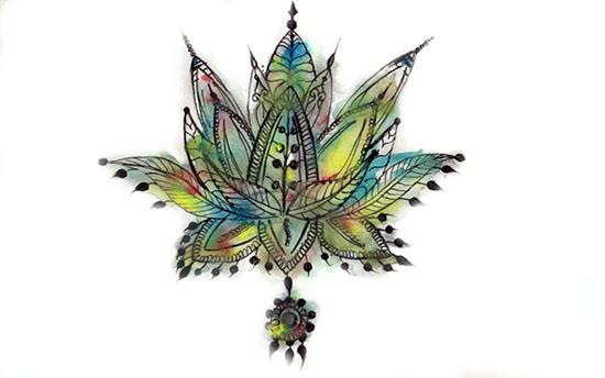 art prints - Lotus Love by Alyssa Ruggieri