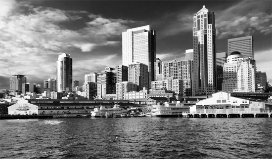 art prints - Seattle Waterfront Too by Leah Lenz