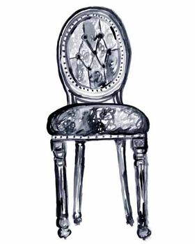 Chair 2 of 4 - watercolor sketch