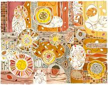 Wheat Flowers by Katalin Klecz
