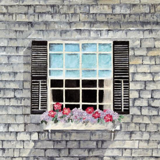 art prints - Grey House, White Trim by Rachel Bartunek
