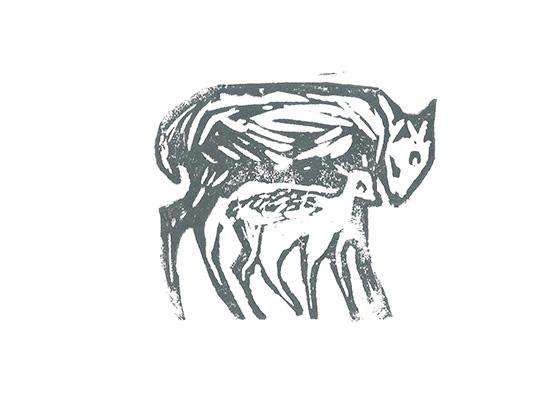 art prints - Winter Deer by Alice Heinrich