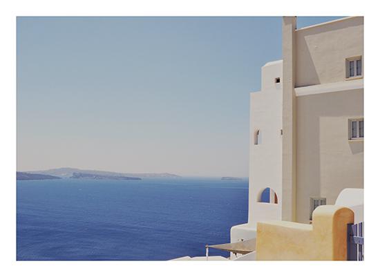 art prints - Santorini Hues by Jenni Jacobus