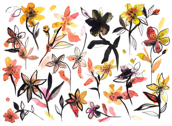 art prints - Yellow flowers by Ninola Design