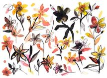 Yellow flowers by Ninola Design