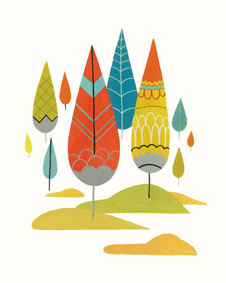 art prints - Deco Forest by Britt DeMaris