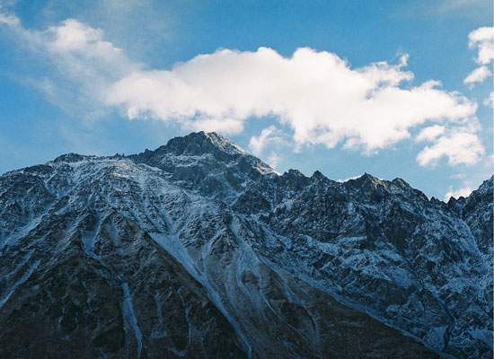 art prints - Georgian mountains in willage Kazbegi by David Grigoryan