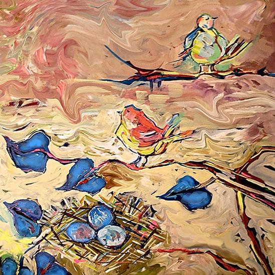 art prints - Bird Bird by Darlene Bevill