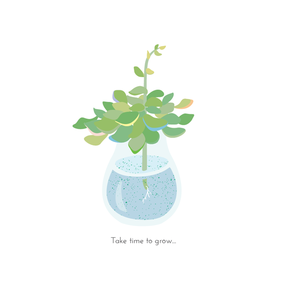 art prints - Take time to grow by LIAN