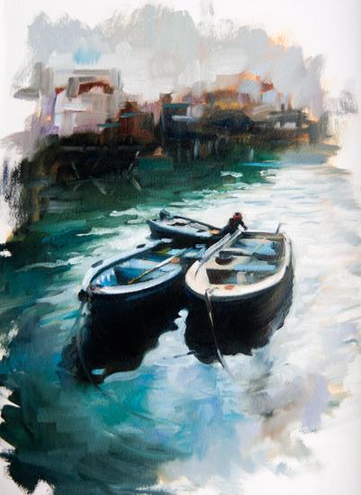 art prints - The Evening Docks by Sarah Nightingale
