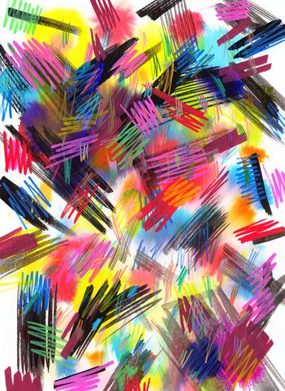 art prints - Wild strokes by Ninola Design