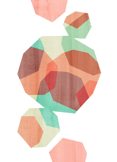 art prints - Geometric Tumble 1 by Field and Sky