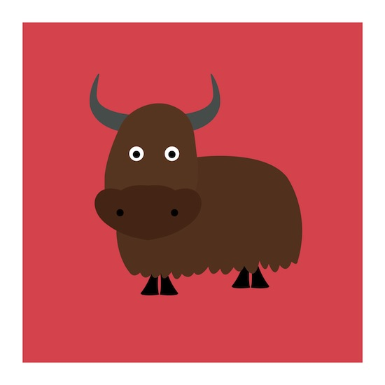 art prints - Zak the Yak by Designerly