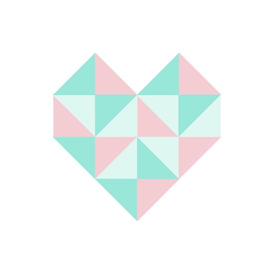 art prints - Geo Heart by Patina Creative