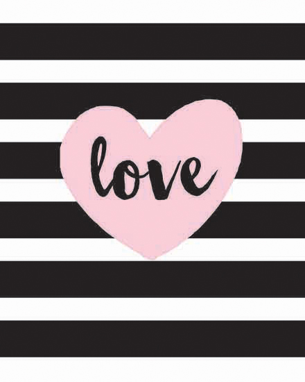 art prints - Black and White Striped Love by Patina Creative