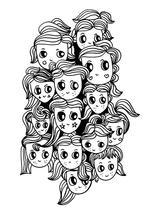 Cute Hair Girls by Tonya Doughty