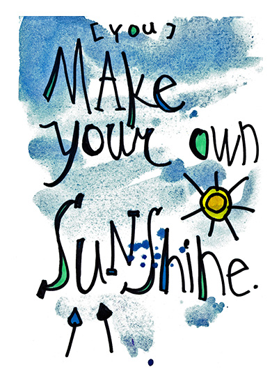 art prints - Make Your Own Sunshine by Tonya Doughty