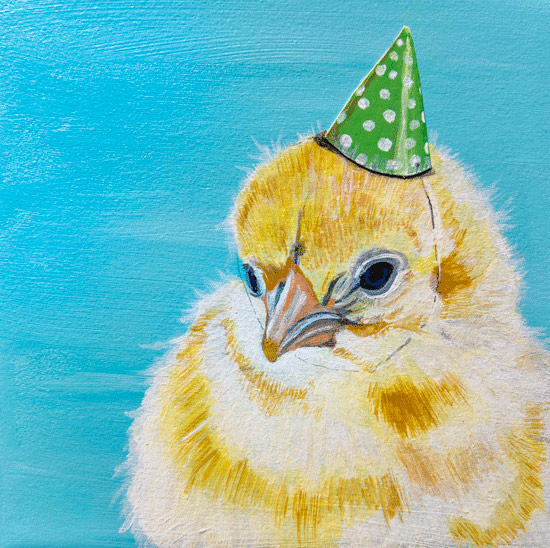 art prints - Cheep Party Chick by Megan Carty