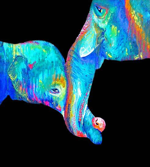art prints - A Mother's Love: Elephants by Lauren Wright