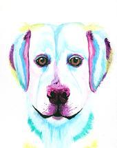 Rainbow Labrador Retrie... by Lauren Wright