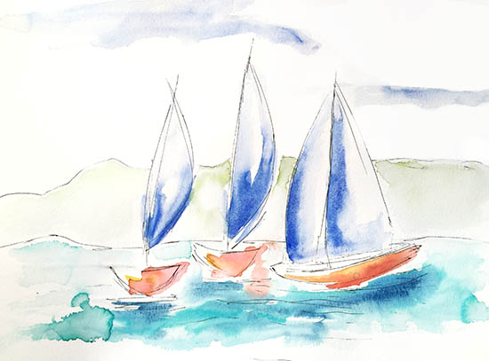 art prints - Sailboating by Amanda Sullivan