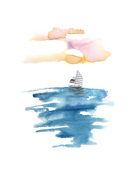 art prints - Paper boat by Amanda Sullivan