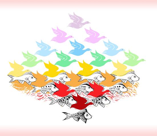 art prints - Escher for Kids Rainbow by Shom Teoh