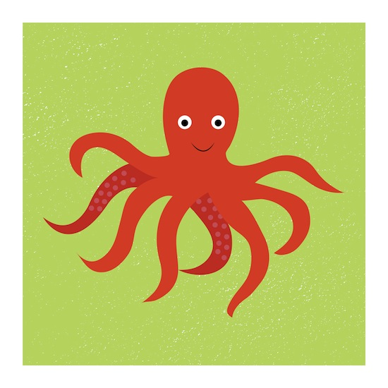 art prints - Ollie the Octopus by Designerly