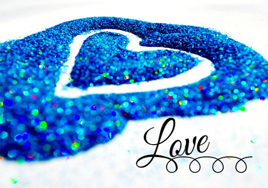 art prints - Glitter Love Heart by Mindy Levin