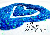 Glitter Love Heart by Mindy Levin