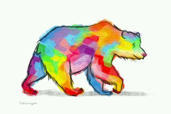 art prints - Bear Love by Ron Notarangelo