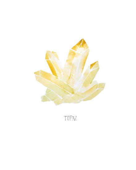 art prints - Topaz crystals by Jennifer Rizzo