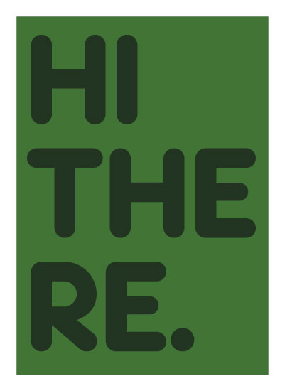 art prints - HI THERE by Annabel Linquist