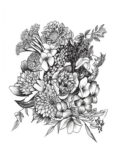 art prints - Stem & Ink 08 by Katie Dill