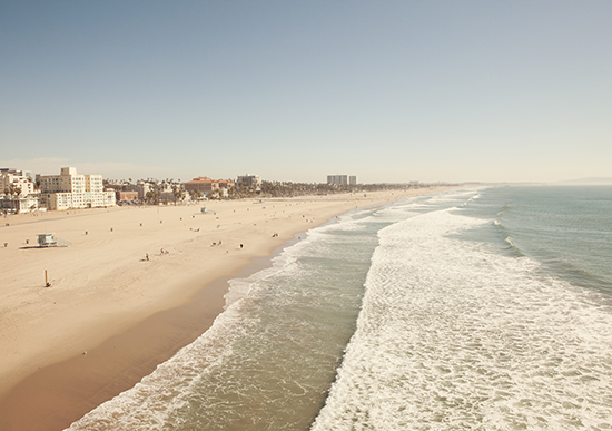art prints - Santa Monica Beach by Catherine McDonald